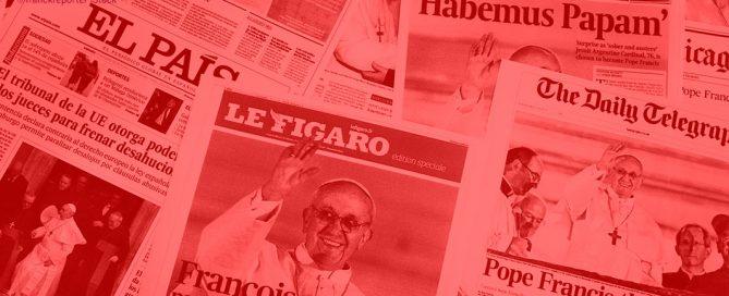 Zeitungen Papst Franziskus